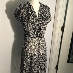 JBS frilled v neck dress- Size 6